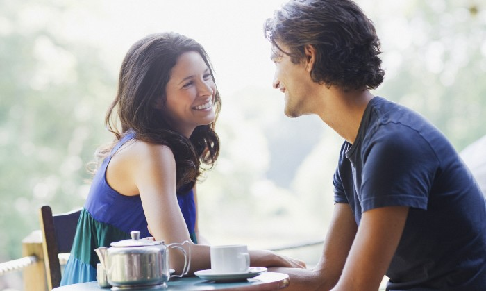 Image of a talking couple