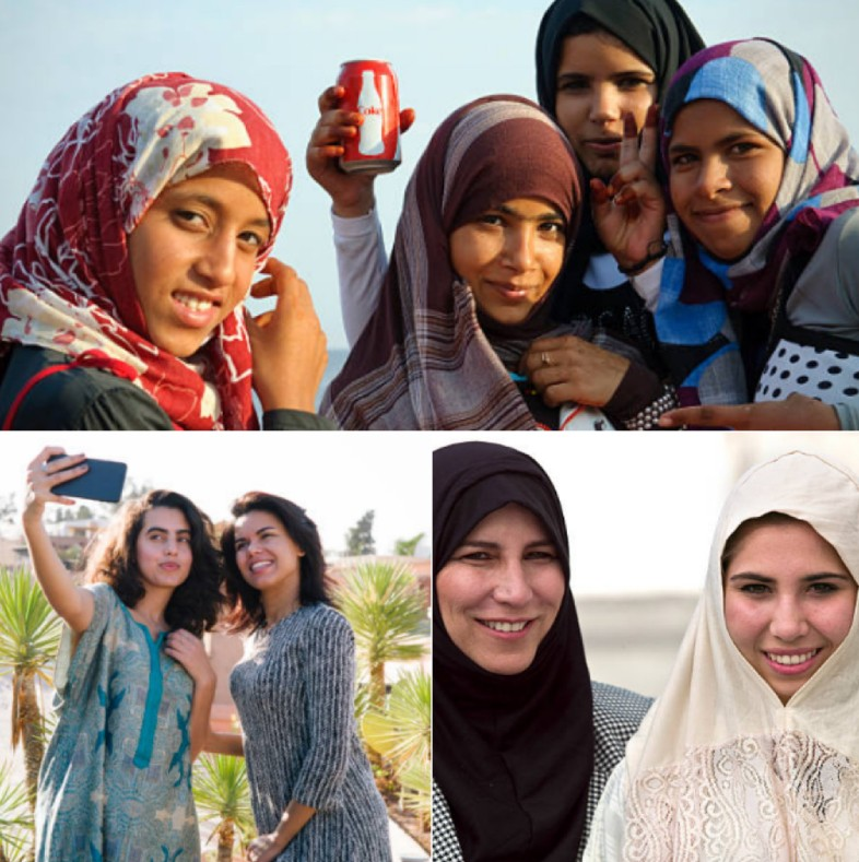 Different women from Morocco