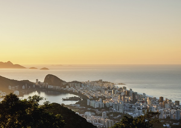 The perfect view of Rio de Janeiro during the sunset