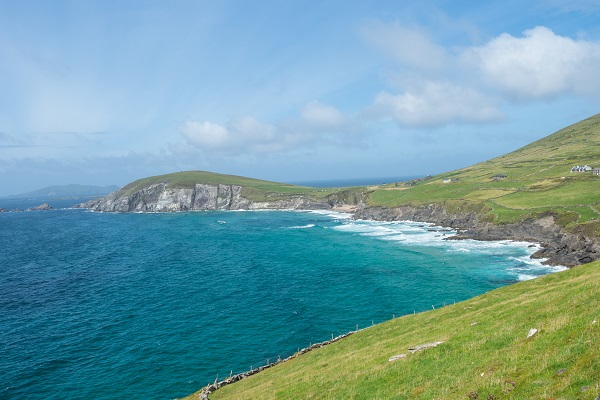 The beautiful landscape showing mountains and cliffs in Ireland
