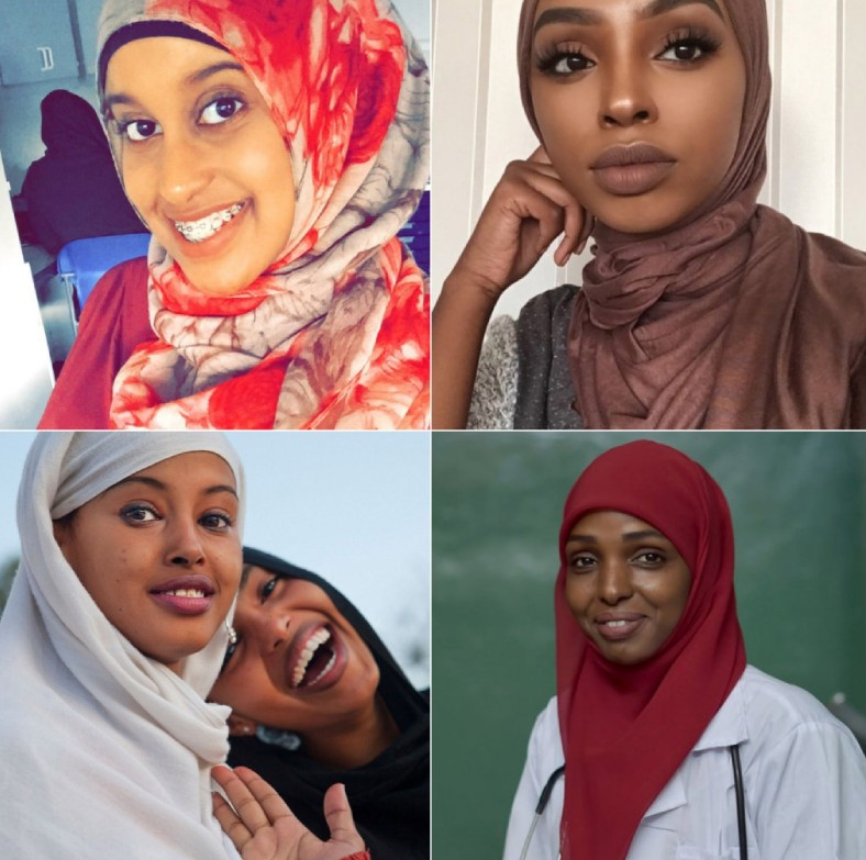 Different women from Somalia