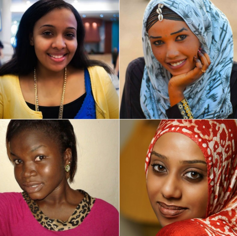 Young women from Sudan